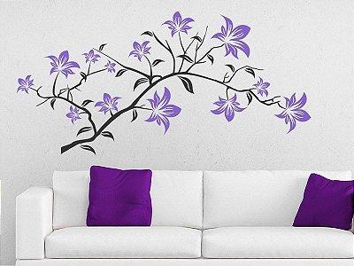 Adesivo de parede - Flores em galho