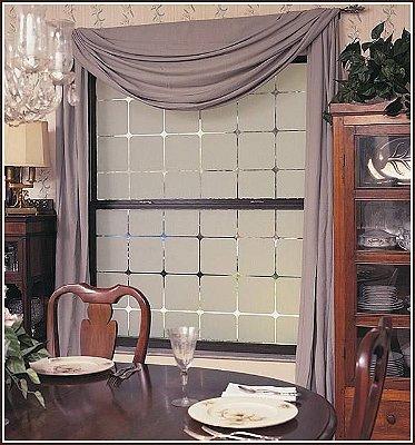 Adesivo Jateado - Quadriculado com cantos arredondados  190x060 cm