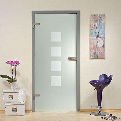 Adesivo jateado para portas - Jateado com quadros   210x100 para portas de 50 a 100 cm de largura