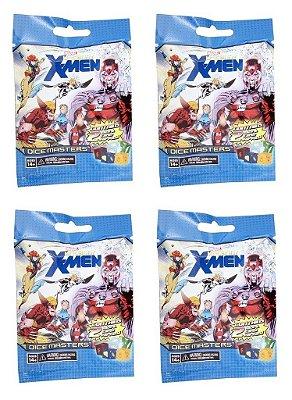 DICE MASTERS UNCANNY X-MEN 4 PACOTES BOOSTER TOTAL 8 DADOS E 8 CARTÕES LACRADO