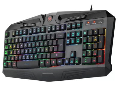 TECLADO GAMER REDRAGON HARPE K503RGB ABNT2 ANTI-GHOSTING LED RGB MULTIMÍDIA