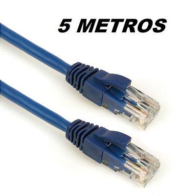 CABO DE REDE 5 METROS CAT5E PLUS CABLE PC-ETHU50BL