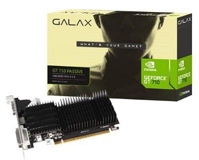 PLACA DE VÍDEO GALAX GEFORCE GT 710 1GB DDR3 64-BIT HDMI DVI-D VGA