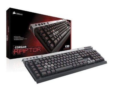 TECLADO GAMER CORSAIR RAPTOR K30 CH-9000224-BR ABNT 2 LED VERMELHO USB