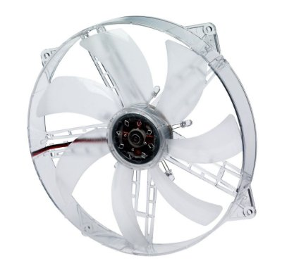 COOLER FAN 180MM 18 CM AKASA AK-F1825SM-CB C/ LED AZUL TRANSPARENTE LACRADO