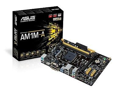 PLACA MÃE ASUS AMD SOCKET AM1 AM1M-A/BR HDMI USB 3.0 SVR DDR3 NOVO