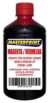 TINTA EPSON CORANTE UNIVERSAL MASTERPRINT 1 LITRO MAGENTA VERMELHA PARA BULK INK