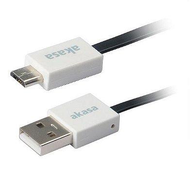 AKASA CABO USB X MICRO USB VARIAS CORES 15CM USB 2.0 AK-CBUB16-15