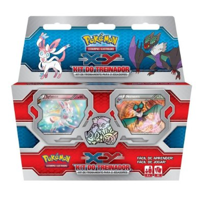 POKÉMON KIT DO TREINADOR XY SYLVEON X NOIVERN CARTAS EM PORTUGUES LACRADO