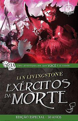 EXÉRCITOS DA MORTE IAN LIVINGSTONE LIVRO JOGO RPG