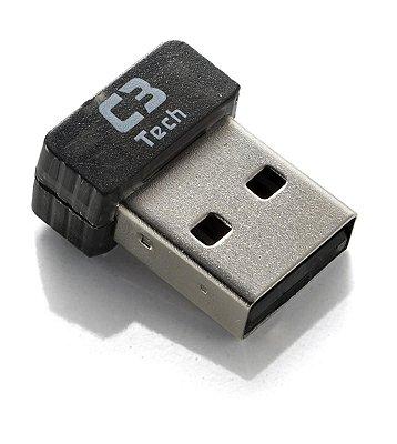 ADAPTADOR USB WIRELESS WIFI C3TECH W-U2310NL V2 150 MBPS 2,4 GHZ