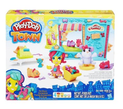 MASSINHA PLAY-DOH TOWN KIT PET SHOP HASBRO B3418 LACRADO