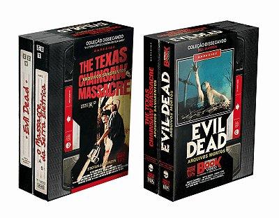 BOX TERROR VHS LIVRO EVIL DEAD + O MASSACRE DA SERRA ELÉTRICA LACRADO