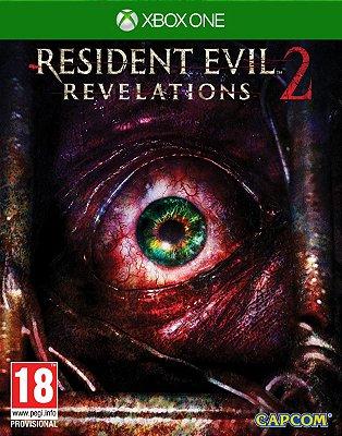 RESIDENT EVIL REVELATIONS 2 EM PORTUGUÊS XBOX ONE C/ PACOTE DLC FISICA LACRADO