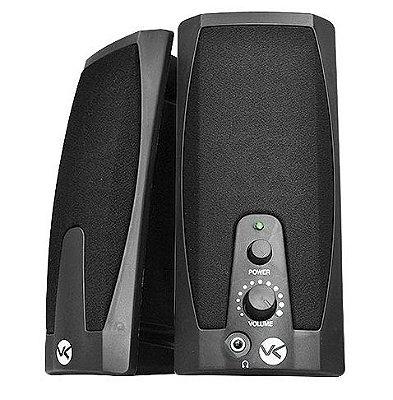CAIXA DE SOM PC NOTEBOOK VINIK VS-201 2W RM USB 2.0 PRETA