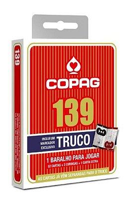 COPAG BARALHO 139 TRUCO VERMELHO C/ MARCADOR DE PONTOS E REGRAS