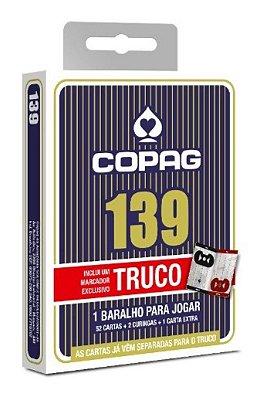 COPAG BARALHO 139 TRUCO AZUL C/ MARCADOR DE PONTOS E REGRAS