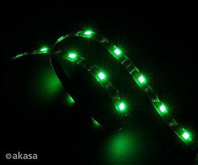 FITA DE LED VERDE FLEXÍVEL P/ GABINETE AKASA VEGAS AK-LD02-05GN 60CM