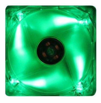 COOLER FAN AKASA LED VERDE 80MM 8CM AK-170CG-4GNS NOVO