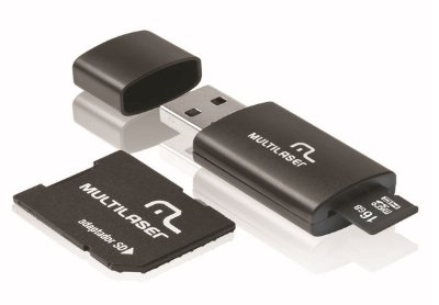 MICRO SD 16GB 3 EM 1 MULTILASER MC112 C/ ADAPTADOR SD E PEN DRIVE