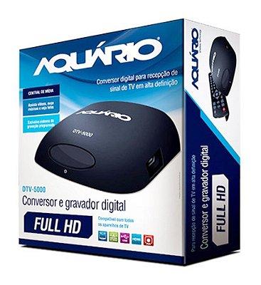 CONVERSOR E GRAVADOR DIGITAL DE TV AQUARIO DTV-5000 + CONTROLE LHS 7066