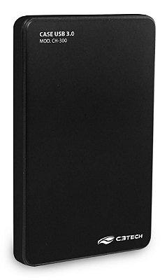 CASE HD SSD SATA 2,5 USB 3.0 C3TECH CH-300BK PRETO