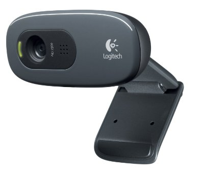 WEBCAM HD 720P LOGITECH C270 C/ DETECTOR DE MOVIMENTOS E MICROFONE