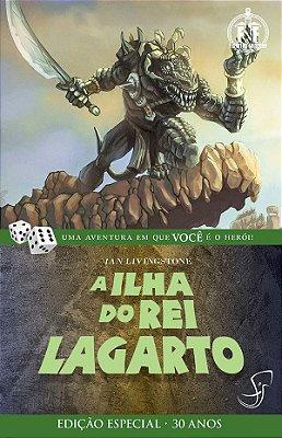 A ILHA DO REI LAGARTO IAN LIVINGSTONE LIVRO JOGO RPG FIGHTING FANTASY