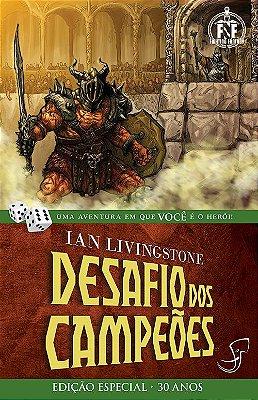 DESAFIO DOS CAMPEÕES IAN LIVINGSTONE LIVRO JOGO RPG FIGHTING FANTASY