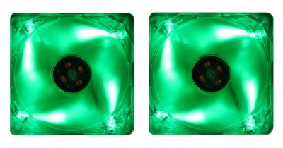 2 COOLER FAN AKASA LED VERDE 120MM 12CM AK-174CG-4GNS NOVO P/ GABINETE
