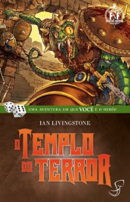 O TEMPLO DO TERROR IAN LIVINGSTONE LIVRO JOGO RPG FIGHTING FANTASY