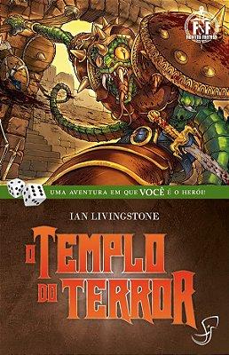 O TEMPLO DO TERROR IAN LIVINGSTONE LIVRO JOGO RPG FIGHTING FANTASY