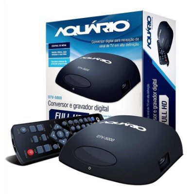 CONVERSOR DIGITAL DE TV AQUARIO DTV-5000 GRAVADOR DIGITAL ENTRADA USB CABO HDMI