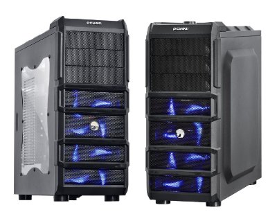 GABINETE GAMER PCYES RHINO C/ 3 COOLER 120MM LED AZUL USB 3.0 COMPATÍVEL SSD