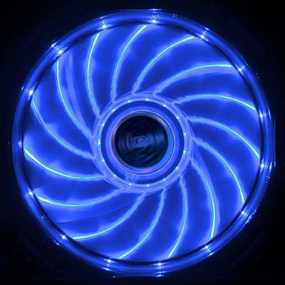 COOLER FAN LED AZUL 12CM 15 LEDS AKASA VEGAS AK-FN091-BL P/ GABINETE