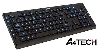 TECLADO GAMER A4TECH KD-600L LED AZUL USB ABNT2 TECLAS GRAVADAS A LASER