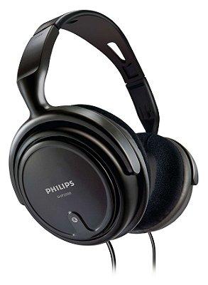 FONE DE OUVIDO PC CELULAR DJ PHILIPS SHP2000/10 C/ ADAPTADOR 6,3 MM