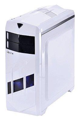 GABINETE GAMER BRANCO VINIK BLIZZARD V2 COOLER LED AZUL 12CM SSD USB 3.0