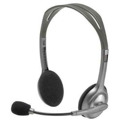 HEADSET FONE DE OUVIDO LOGITECH CINZA H110 PC NOVO