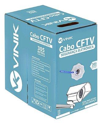 CABO P/ CFTV SEGURANÇA ELETRÔNICA 305 METROS AZUL VINIK 24 AWG 4 PARES