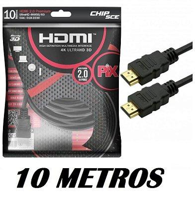 CABO HDMI 2.0 10 METROS 4K 3D CHIPSCE 018-2230
