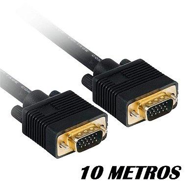 CABO VGA X VGA 10 METROS BLINDADO COM FILTRO PLUS CABLE