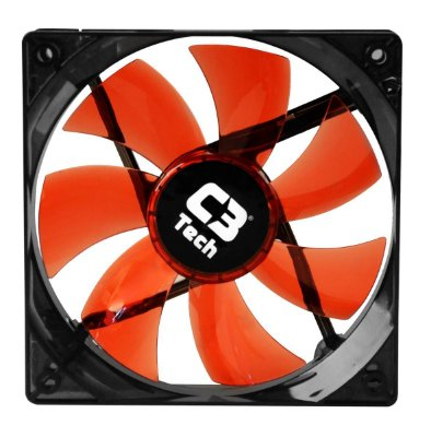 COOLER FAN LED VERMELHO C3TECH F7-L100RD STORM F7 12CM 120MM P/ GABINETE