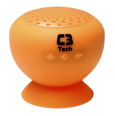 CAIXA DE SOM SPEAKER BLUETOOTH C3TECH SP-12B LARANJA 3W RMS CELULAR TABLET
