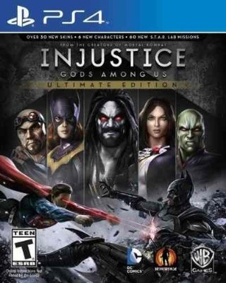 INJUSTICE GODS AMONG US ULTIMATE EDITION PS4 NOVO LACRADO EM PORTUGUES