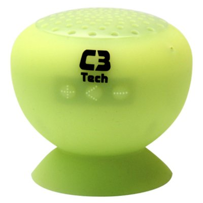 CAIXA DE SOM SPEAKER BLUETOOTH C3TECH SP-12B VERDE 3W RMS CELULAR TABLET