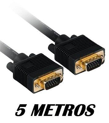 CABO VGA X VGA 5 METROS PLUS CABLE PC-MON5002BK BLINDADO