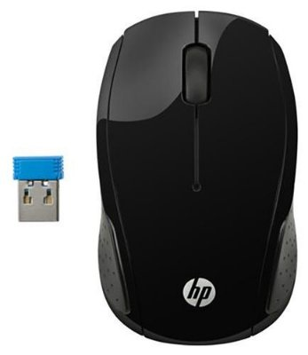 MOUSE SEM FIO WIFI HP X200 OMAN PRETO AMBIDESTRO 1000 DPI WINDOWS 10