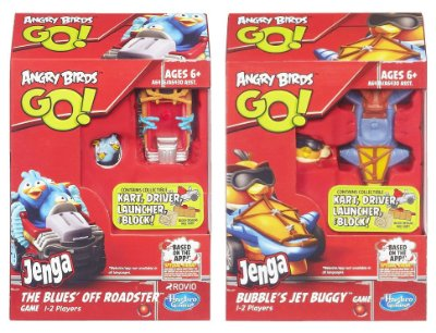 ANGRY BIRDS GO! JENGA 2 KITS COMPLETOS BLUES + BUBBLES