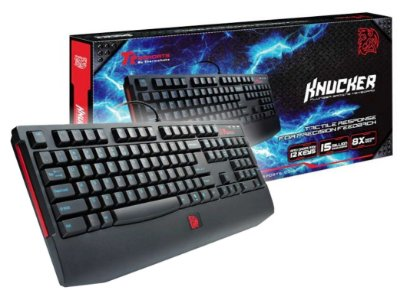 TECLADO GAMER SEMI MECÂNICO THERMALTAKE KNUCKER ANTI-GHOSTING USB PS2 ABNT2